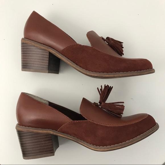 Seychelles Shoes - SEYCHELLES Descent Tassled Heeled slip on loafer